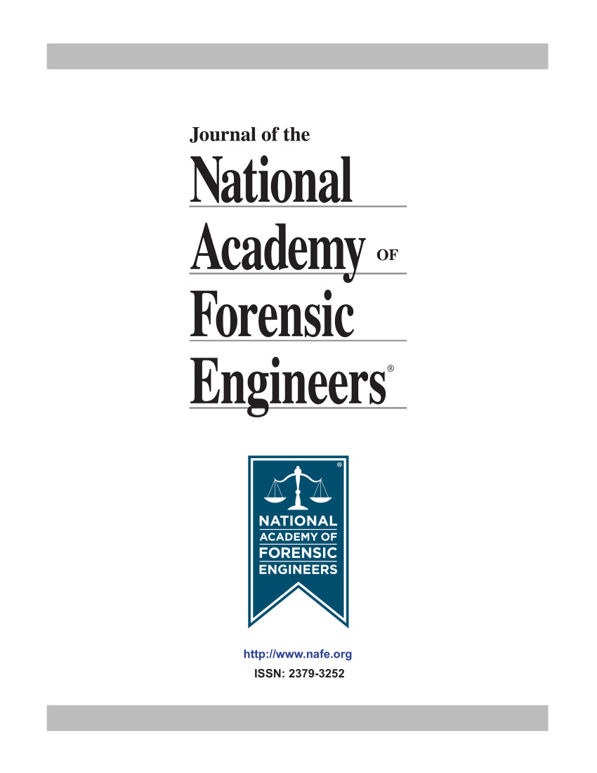 Cover of the NAFE Journal Volume 1 Number 1