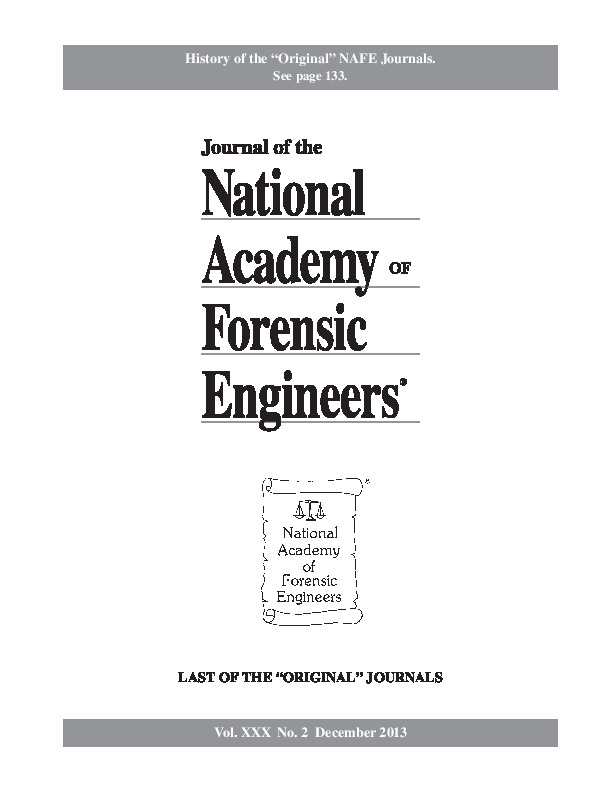 Cover of the NAFE Journal Volume 30 Number 2